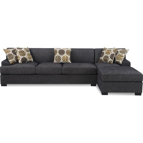 Bobkona Benford 2-Piece Chaise Sectional Sofa Collection with Faux Linen