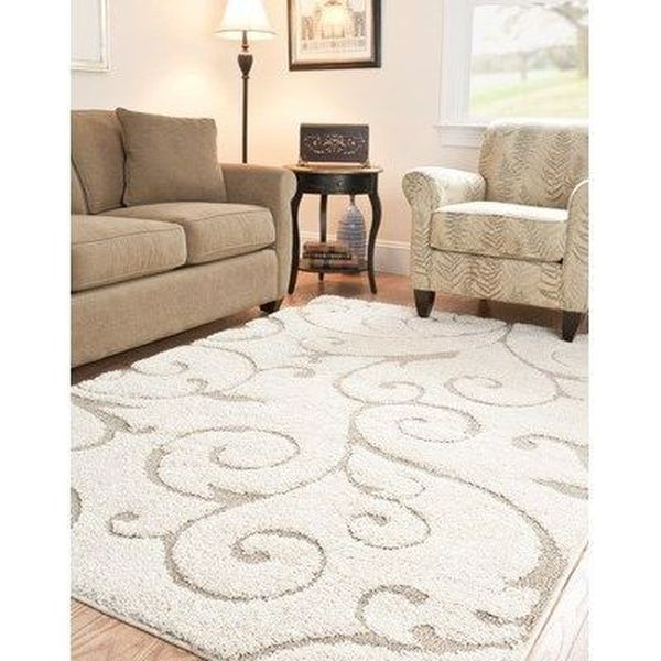 Safavieh Cream and Beige Shag Rug