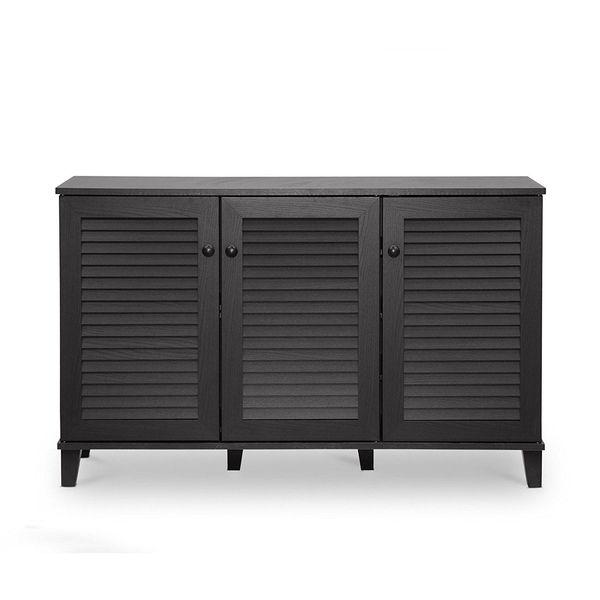 Furniture of America Astro 9-Shelf Shoe Cabinet, Walnut