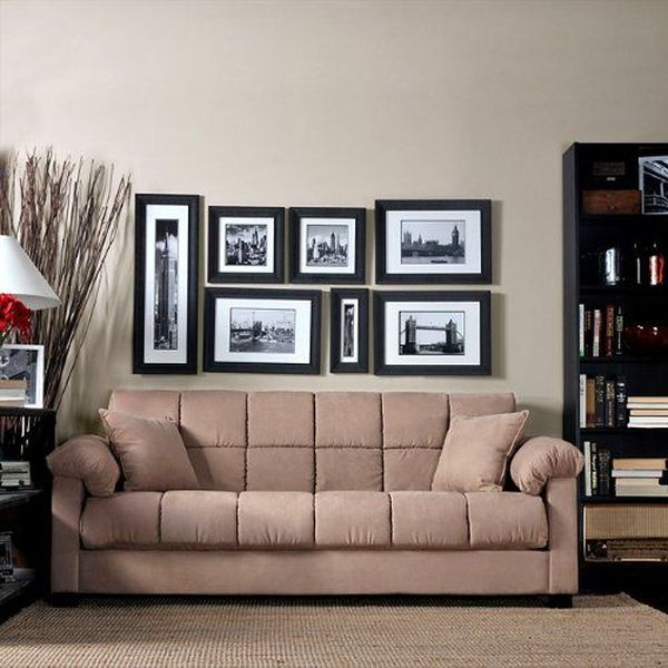 Handy Living Living Room Convert-A-Couch Microfiber