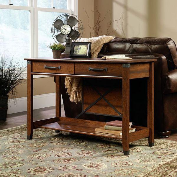 Sauder Carson Forge Sofa Table, Washington Cherry Finish