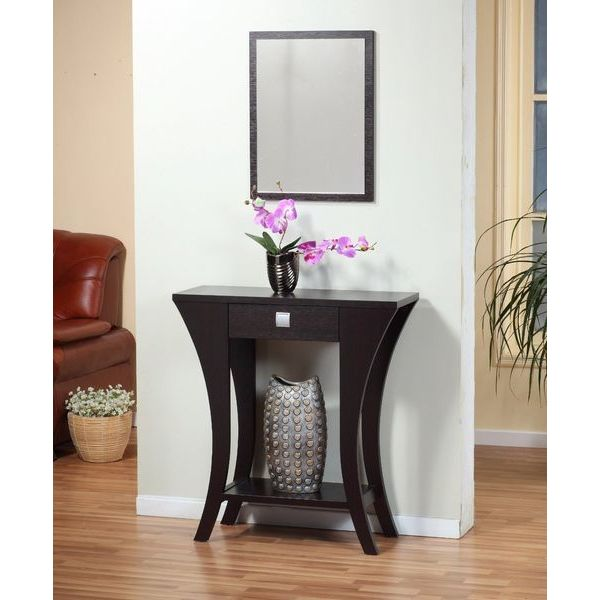 Cappuccino Finish Sofa Table with Drawer
