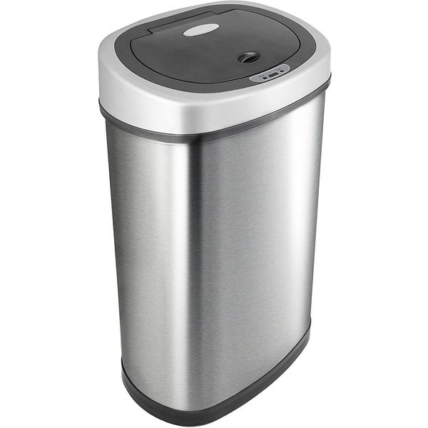 Nine Stars Infrared Touchless Stainless Steel Trash Can, 13.2-Gallon