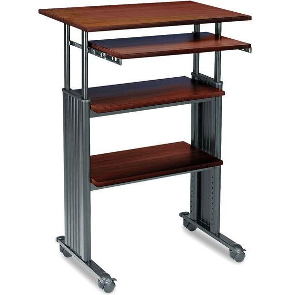 Safco Products Stand-Up Desk, Cherry
