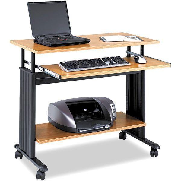 Safco Products Adjustable Stand-Up Desk, Medium Oak