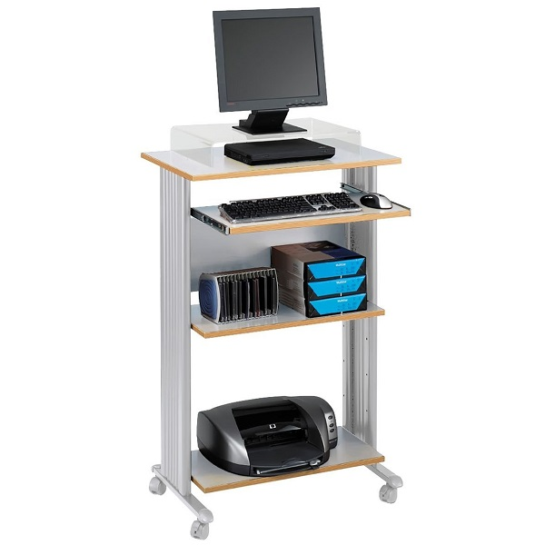 Safco Products Fixed Height Stand-Up Desk, Gray