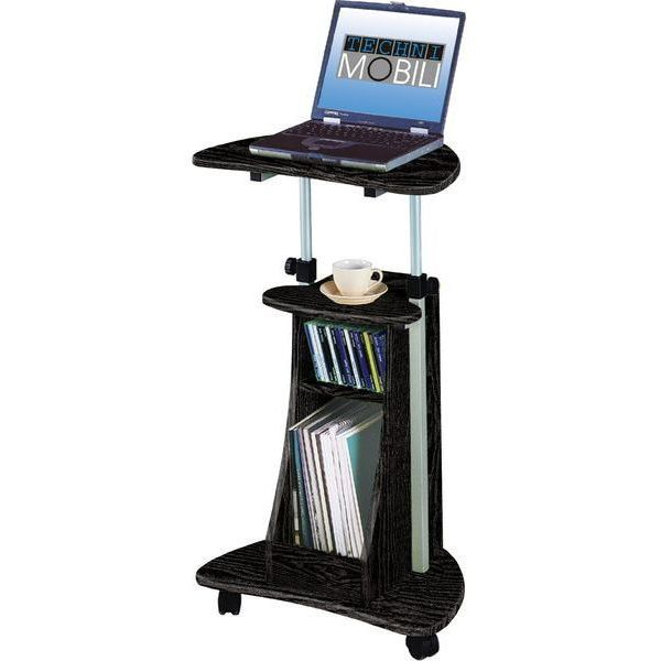 Black Laptop Computer Desk/Podium Cart