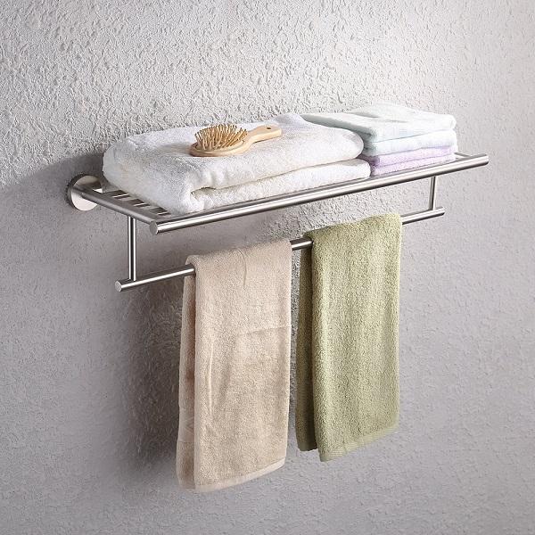 KES Stainless Steel Towel Rack with Shelf