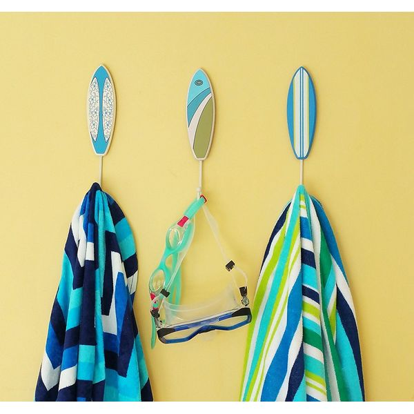 Tumbler Home Tropical Surfboard Towel Hooks
