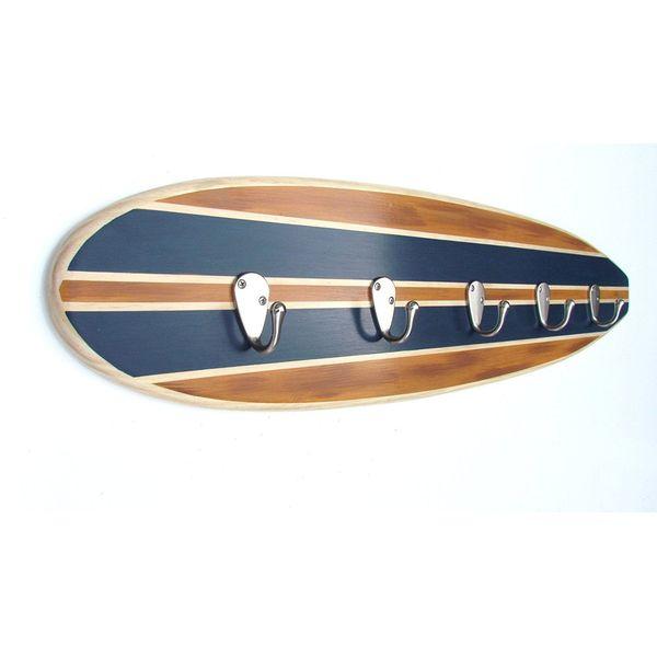 Marker Six Surfboard Towel Rack, Navy Blue
