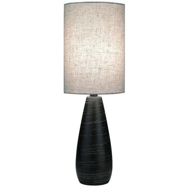 Lite Source Brushed Dark Bronze Ceramic Mini Table Lamp