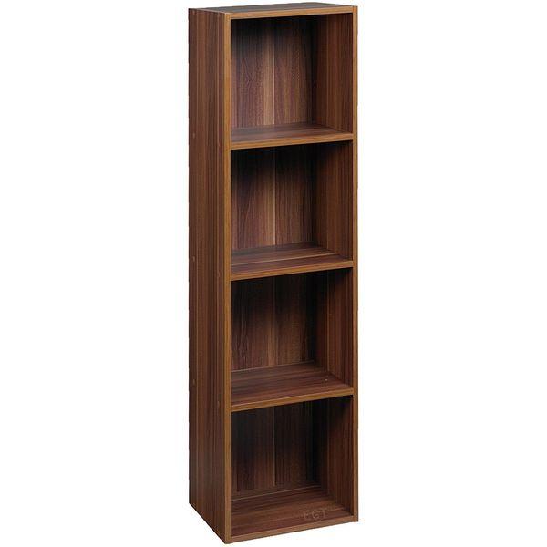 URBN LIVING Urbn 4 Tier Teak Bookcase