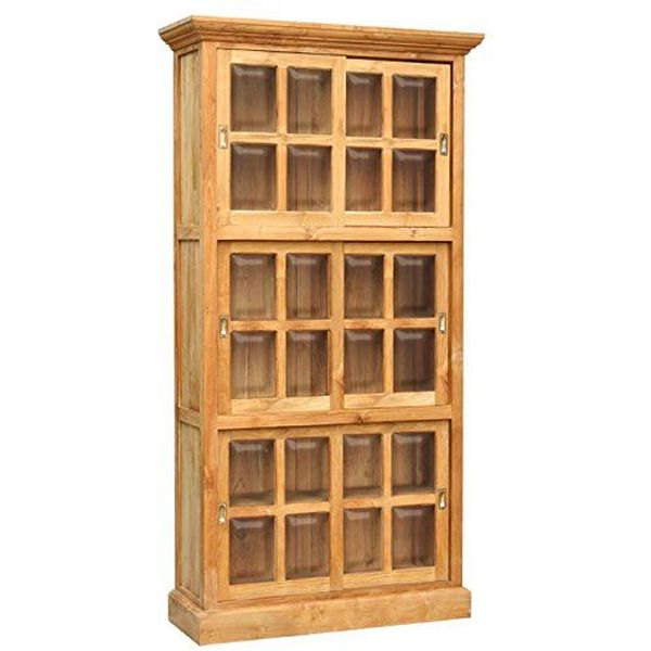 Waxed Teak Riviera Bookcase made by Chic Teak
