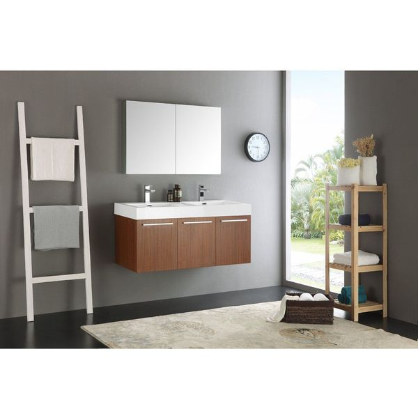 KOHLER Jute 60-Inch Vanity with 2 Doors and 2 Drawers, Corduroy Teak