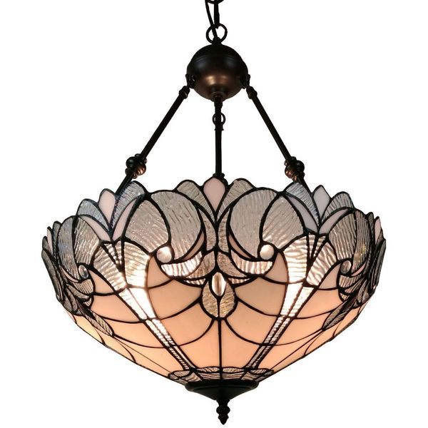 Amora Lighting Tiffany Style Hanging Pendant Chandelier