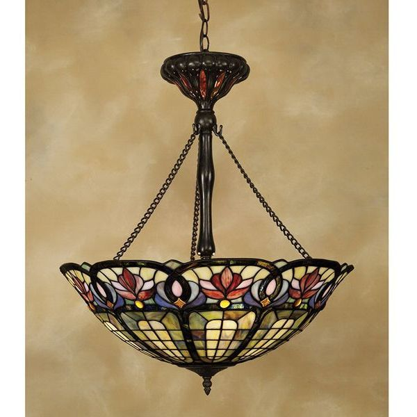 Hyacinth Tiffany-Style Pendant Chandelier