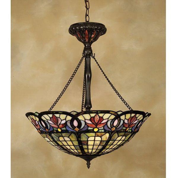 Hyacinth Tiffany-Style Pendant Chandelier