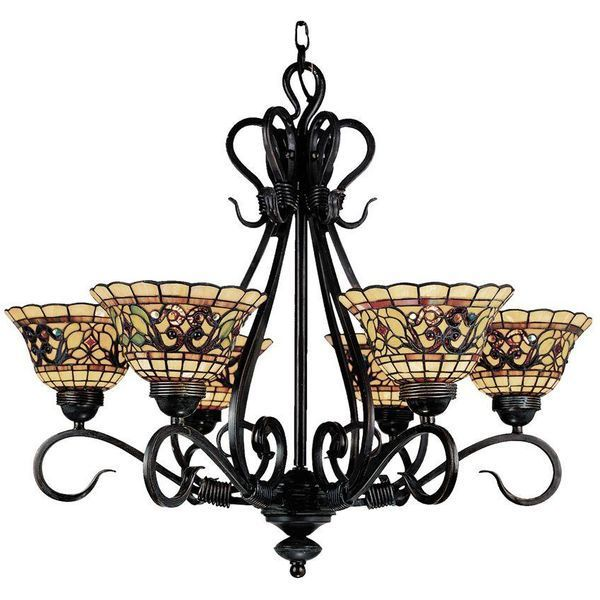 Landmark Tiffany Buckingham 6-Light Chandelier