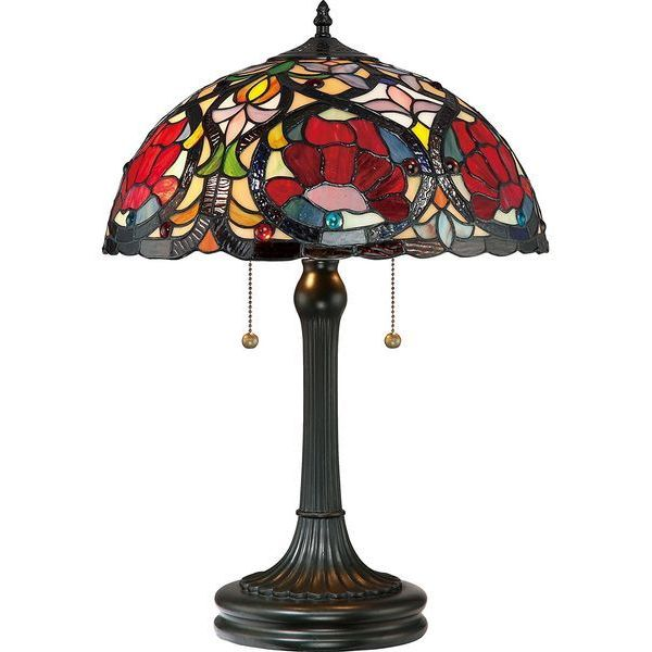 Quoizel Larissa 2 Light Tiffany Table Lamp