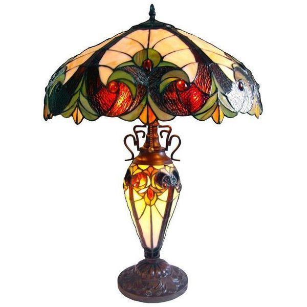 Chloe Lighting 3 Light Victorian Double Lit Table Lamp