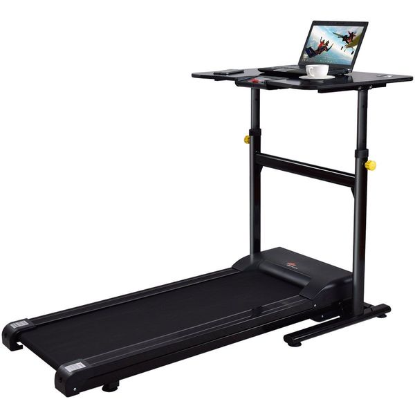 Goplus Adjustable Height Treadmill Desk