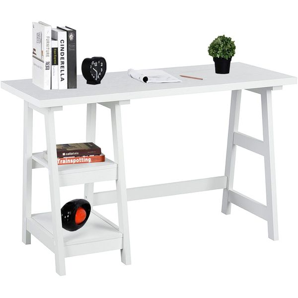 Coavas Trestle Desk, White