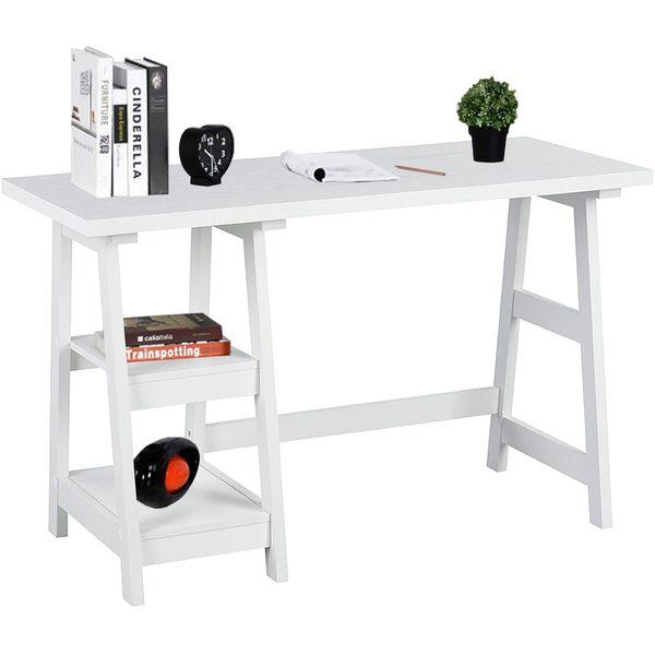 Coavas Trestle Desk, White