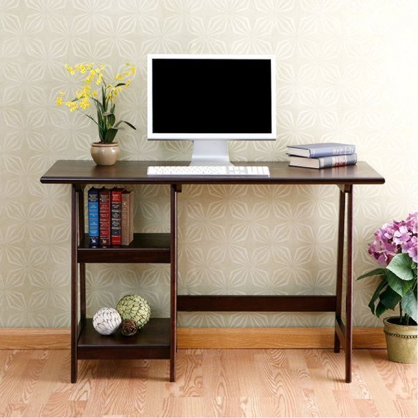 Southern Enterprises Braxton Wood Laptop Desk