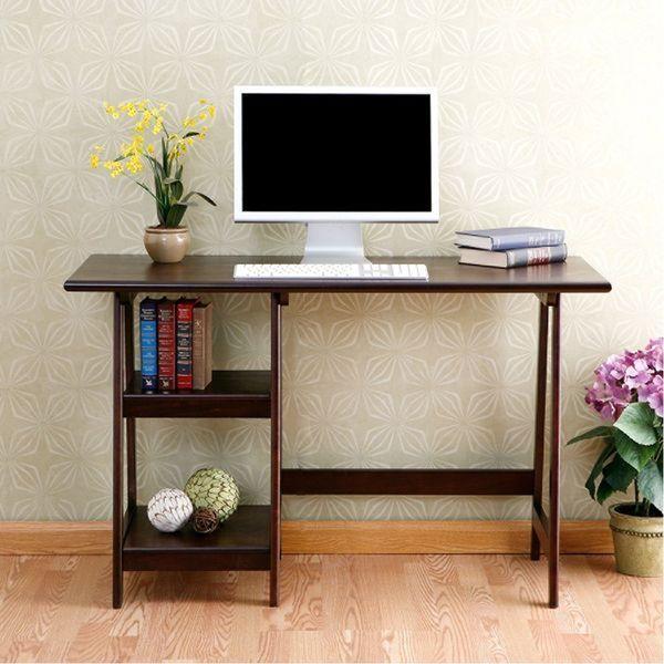 Southern Enterprises Braxton Wood Laptop Desk