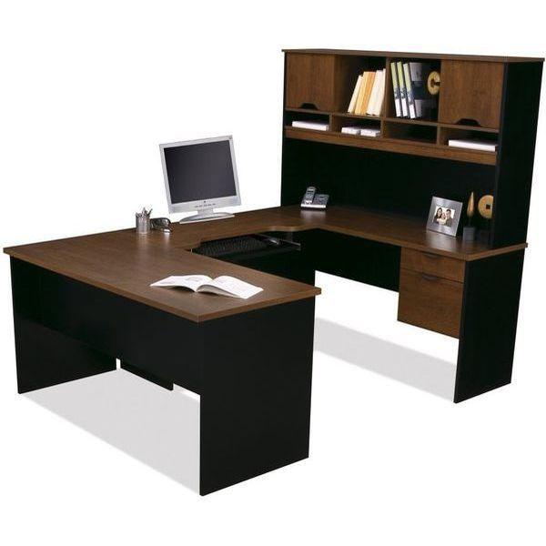 Bestar Innova U-Desk in Tuscany Brown and Black