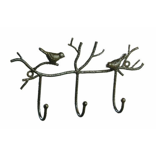 Creative Co-Op Metal Twig and Bird Unique Towel Rack