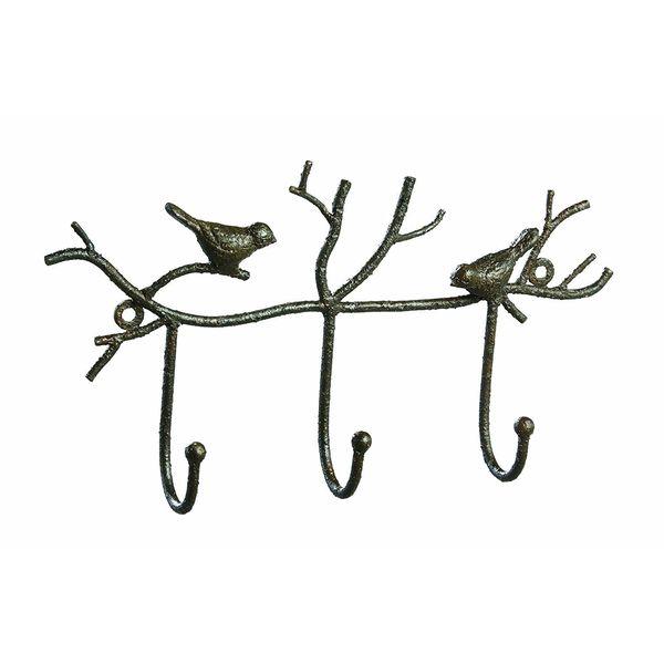 Creative Co-Op Metal Twig and Bird Unique Towel Rack