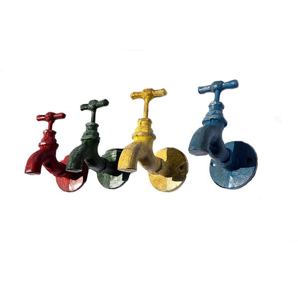 Abbott Vintage Colorful Iron Faucet Unique Towel Hooks