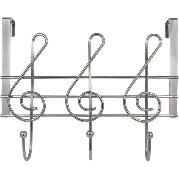 Streamline Musical Note Over-the-Door Towel Rack