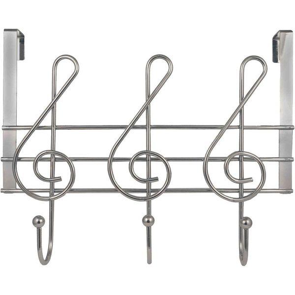 Streamline Musical Note Over-the-Door Towel Rack