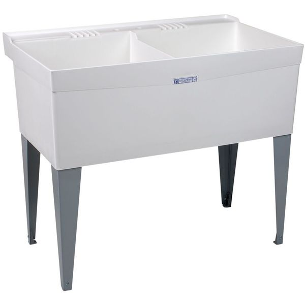 Mustee Double Bowl Laundry Tub