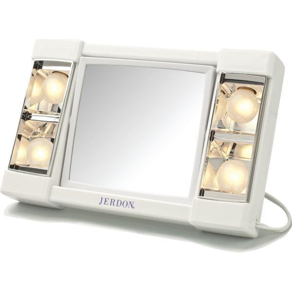 Jerdon White Table Top Makeup Mirror