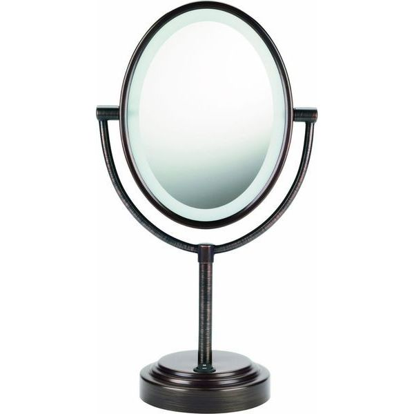Conair Double-Sided Illuminated Oval Mirror