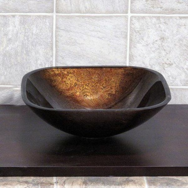 Artistic Square Glass Vessel Vanity Sink