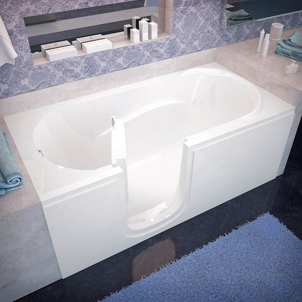 Venzi Bathing Left Drain Walk In Bathtub, White