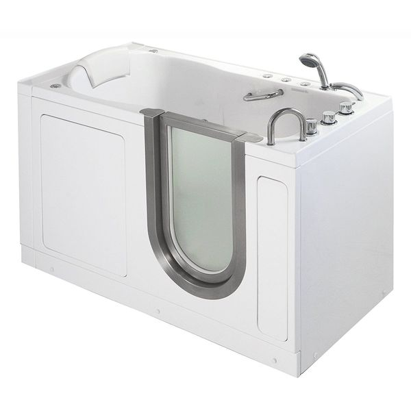 Deluxe Dual Massage Acrylic Walk-In Bathtub