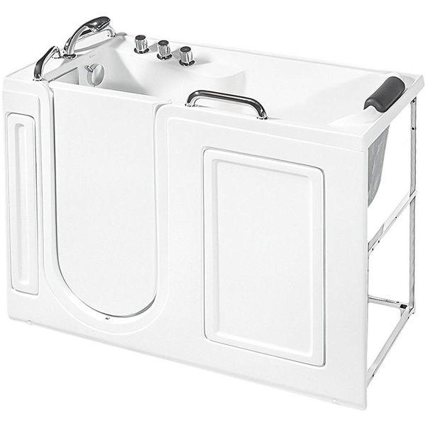 Ashton Whirlpool Walk-In Bathtub, White