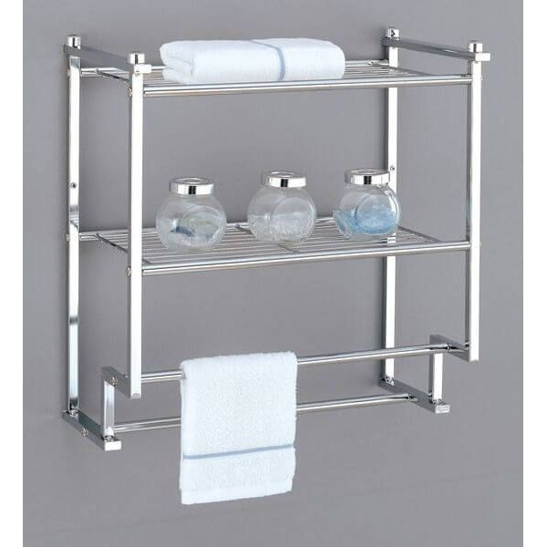 Organize-It-All Metro 2-Tier Wall Mounted Towel Rack