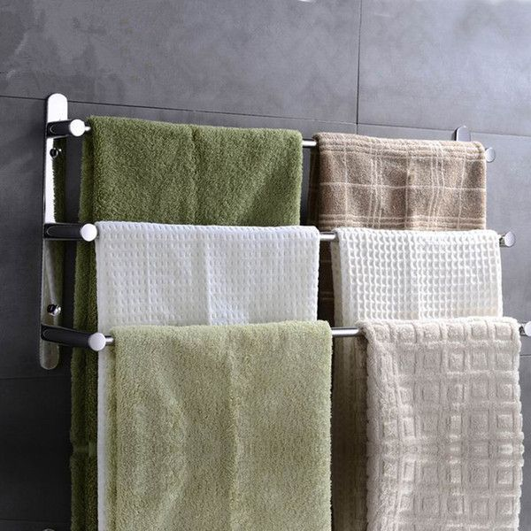 Sprinkle Stainless Steel 3-Bar Wall Mounted Towel Rack