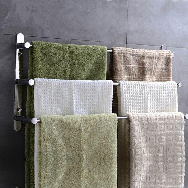 Sprinkle Stainless Steel 3-Bar Wall Mounted Towel Rack