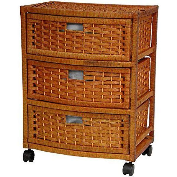 Oriental Furniture Natural Wicker Nightstand