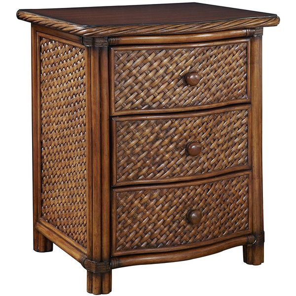 Home Styles Marco Island Wicker Nightstand