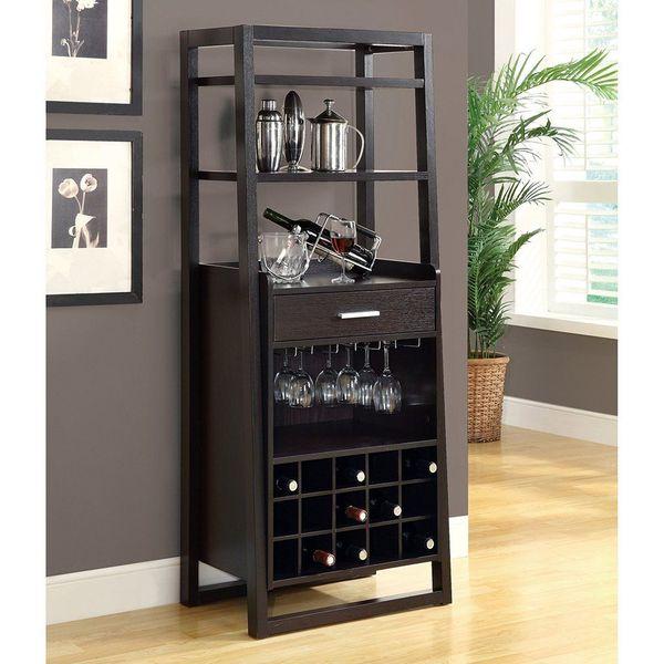 Monarch Specialties Wine Cabinet, Cappuccino Finish