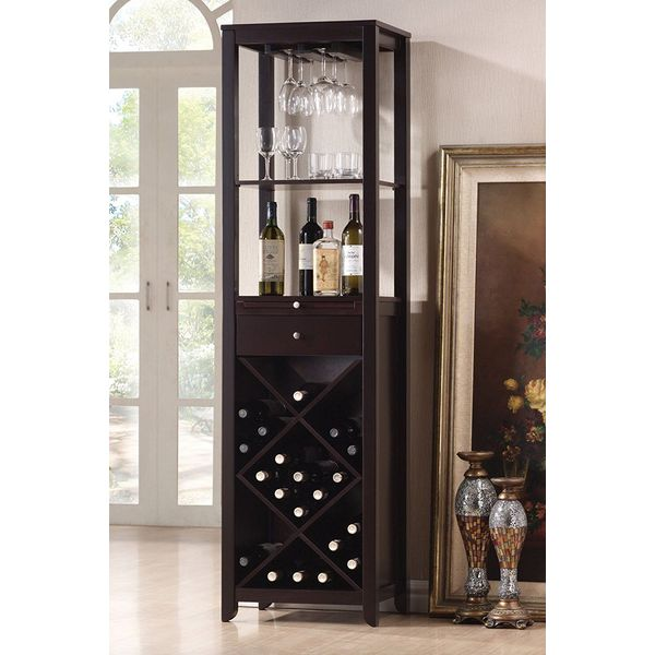 Acme Casey Wine Cabinet Set, Wenge Finish