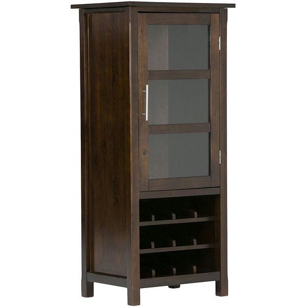 Simpli Home Avalon High Storage Wine Rack, Rich Tobacco Brown